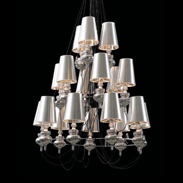 Romantic_Decorative_Chandelier_White_lamp_shade_Ceiling